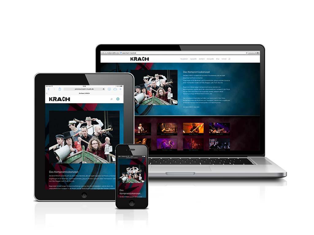 Das neue KRACH-Webseiten Design
